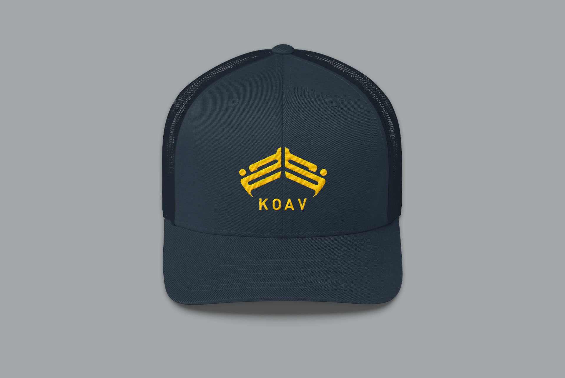 Trucker Snap Back Cap with our KOAV emblem