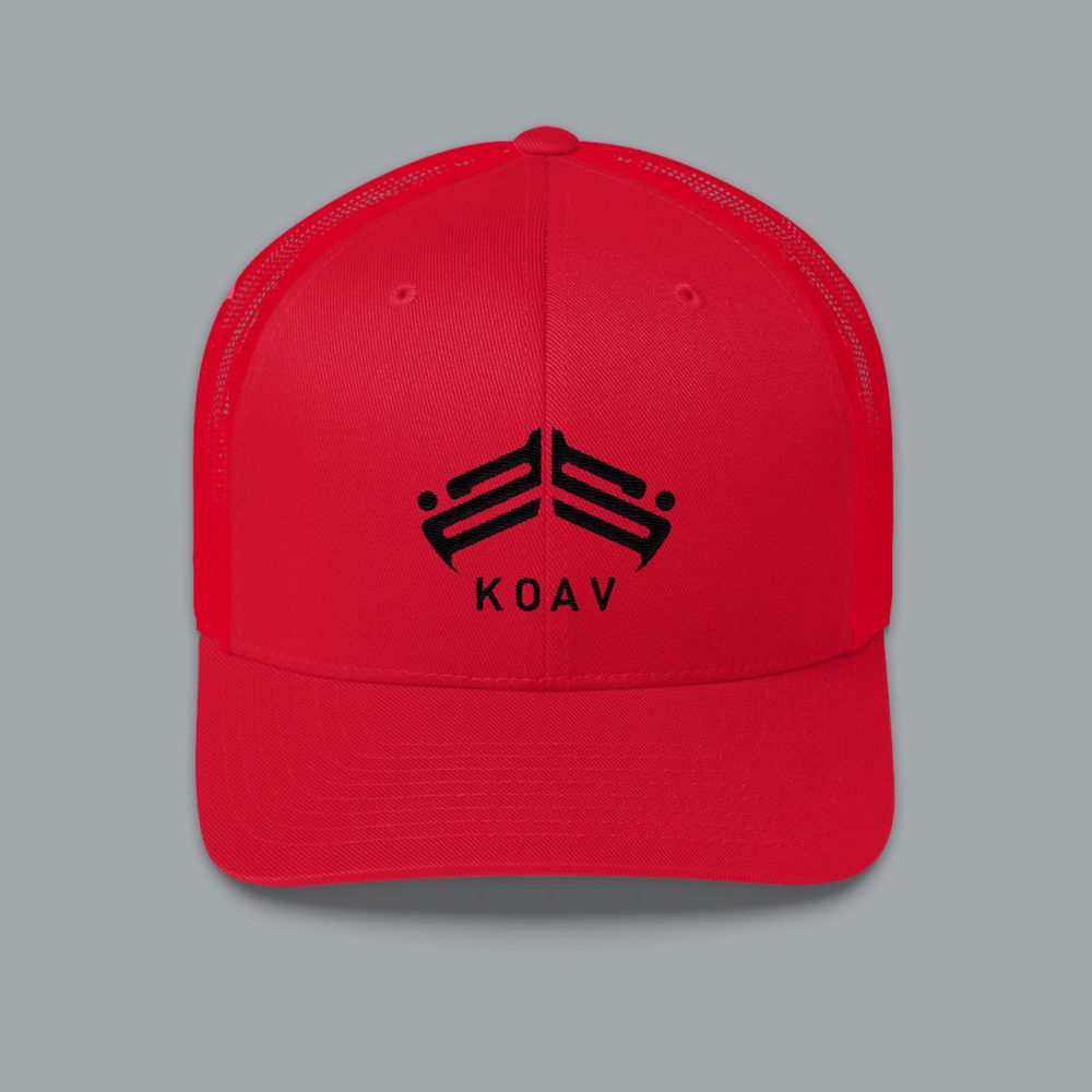 KOAV Trucker Snap Back Cap - Red