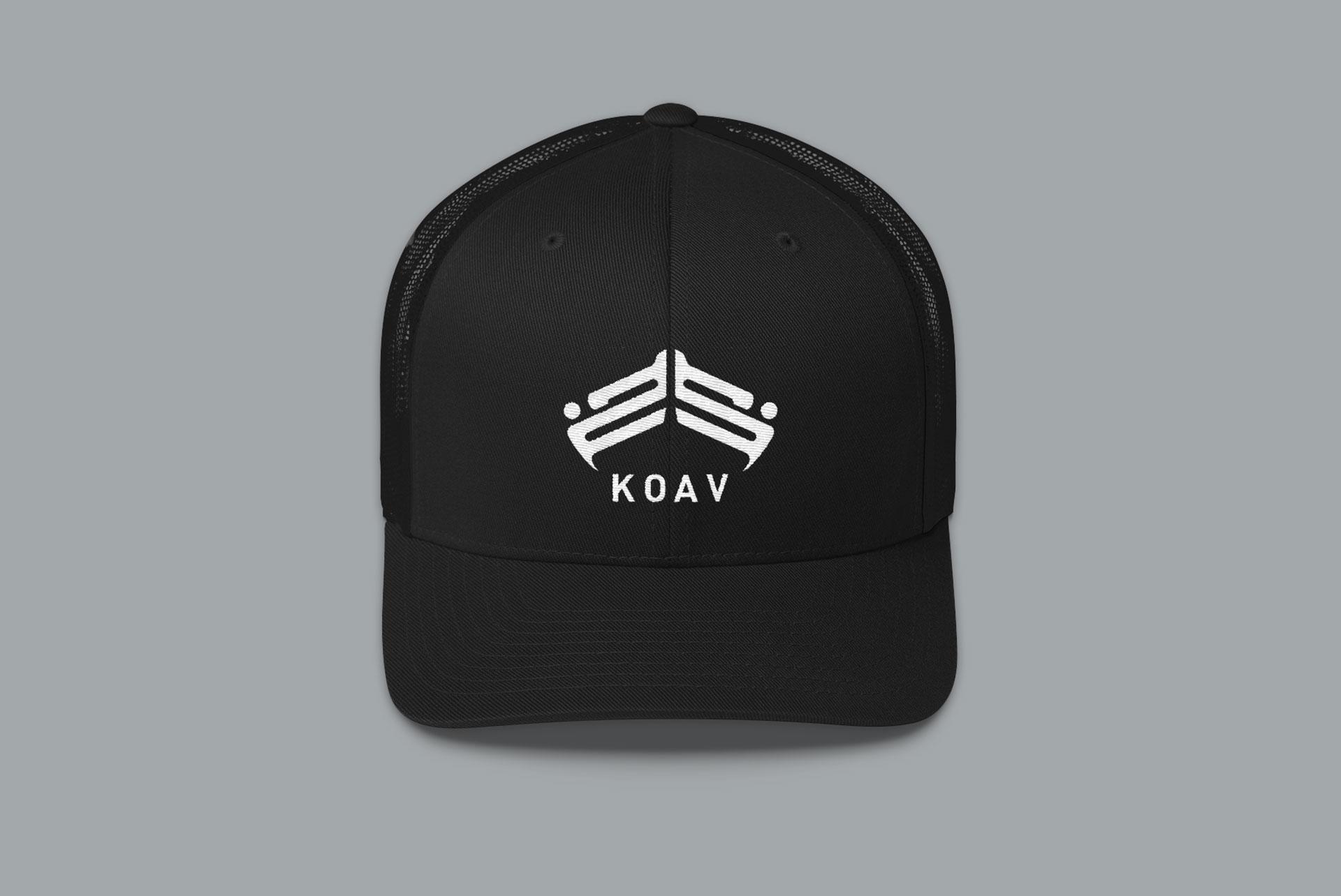 KOAV Trucker Snap Back Cap - Black