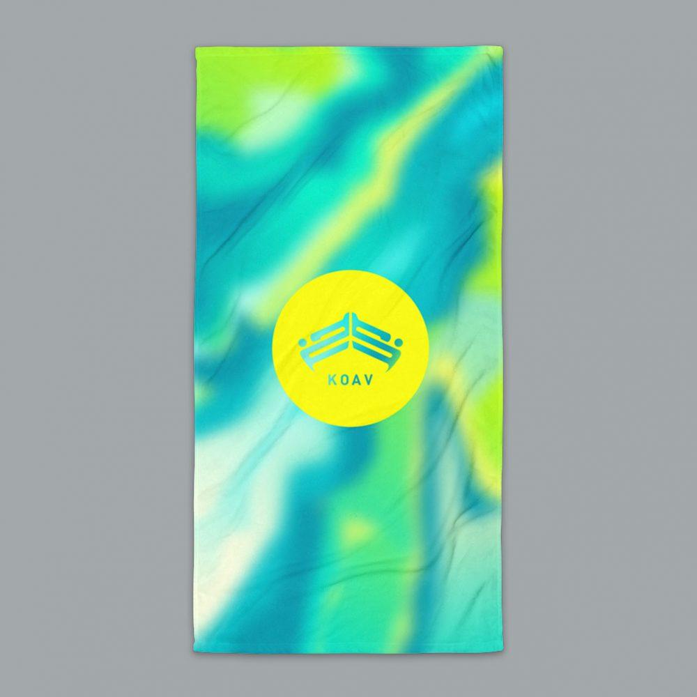 KOAV Psyched Seaside Terry Beach Towel