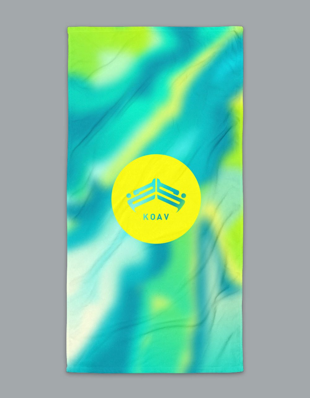 Psyched Seaside Terry Beach Towel by KOAV