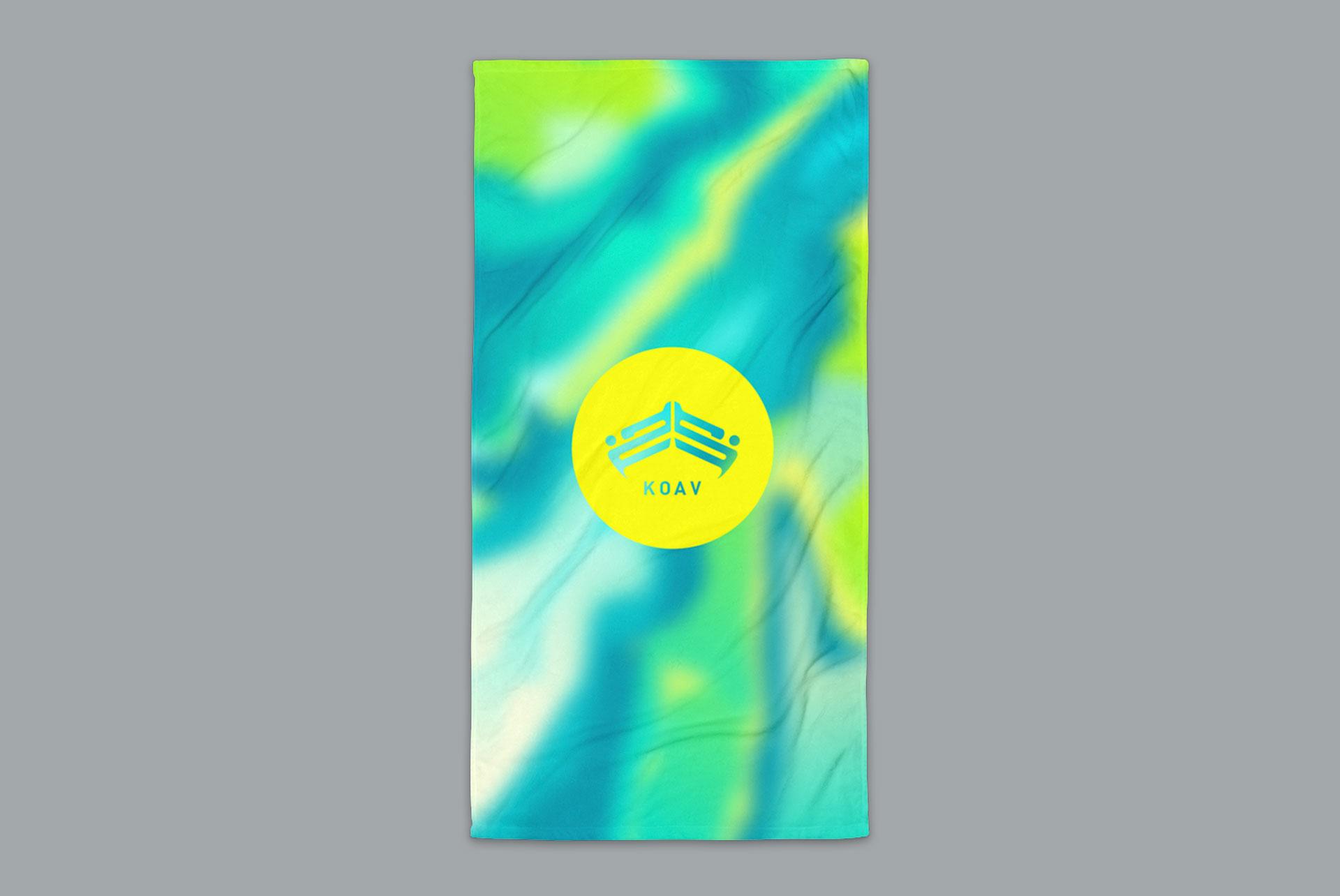 Psyched Seaside Terry Beach Towel by KOAV