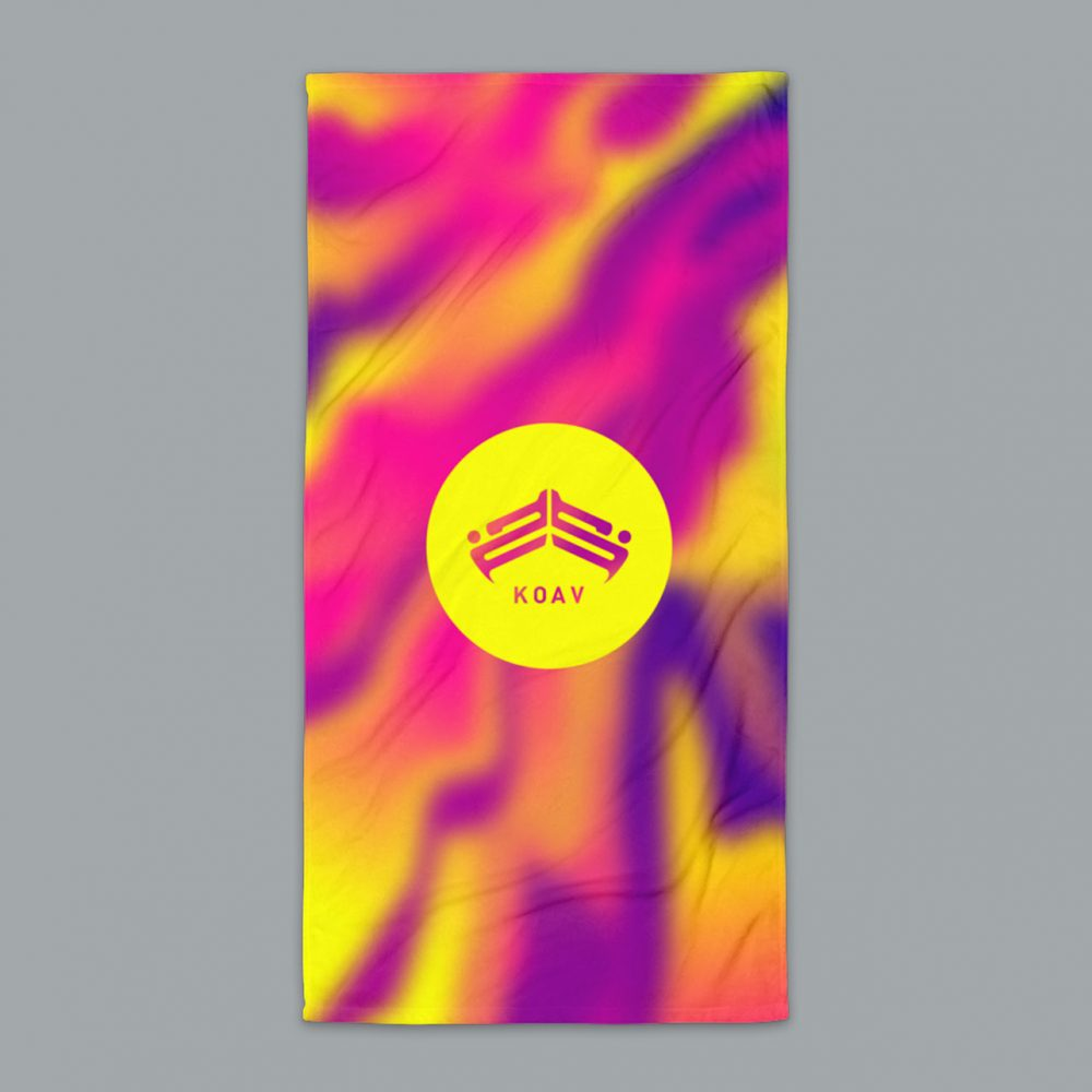 KOAV Psyched Sunset Terry Beach Towel