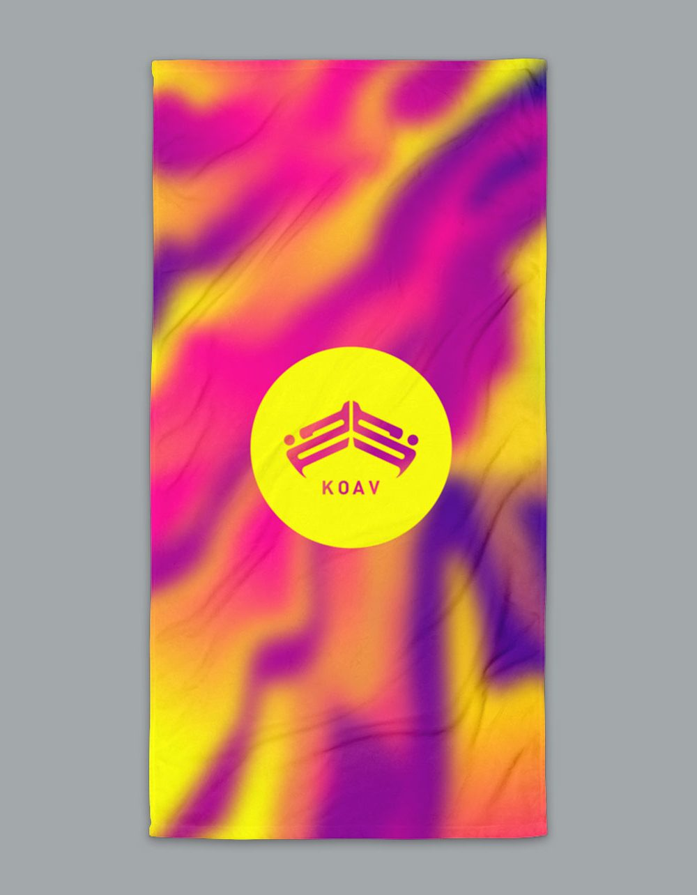 Psyched Sunset Terry Beach Towel by KOAV