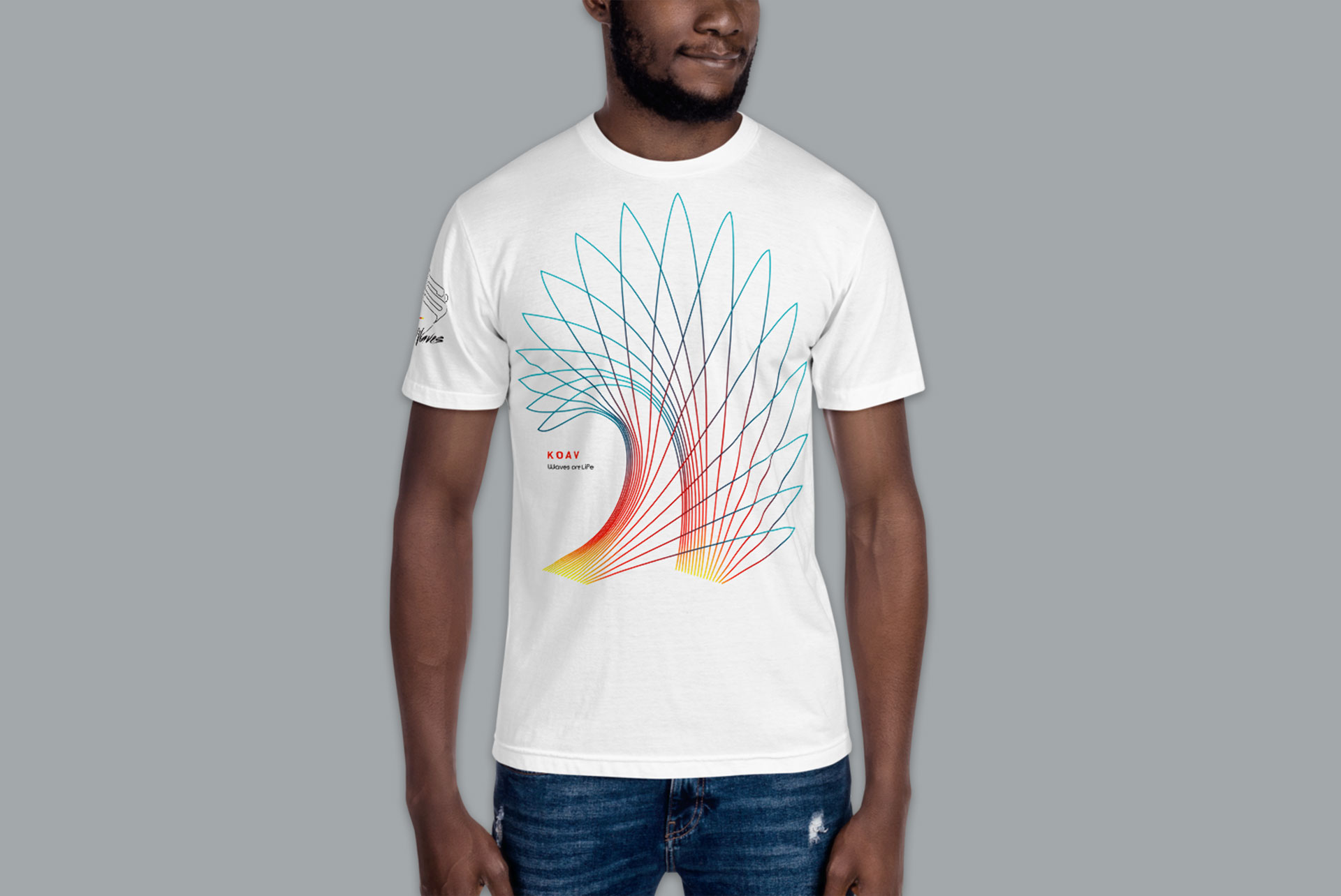 Waves are Life Premium Fitted T-Shirt by KOAV